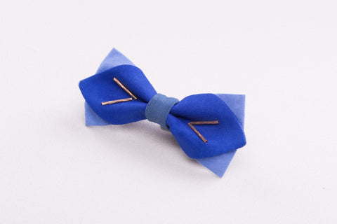 Diamond Tip Blue Bow tie