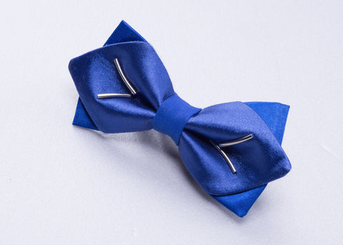Silk Navy Blue Bow tie