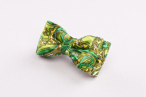 Floral Green Bow tie