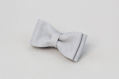 Grey bow tie, men bow tie, designer bow tie, grey wedding bowtie