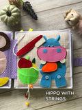 Personalized Quiet Book Interactive Sensory PikaBooK