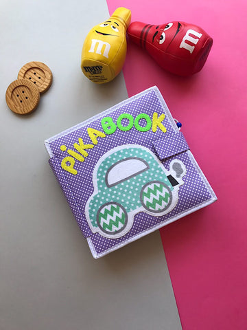 quiet handmade organic tactile play book pikabook for kids