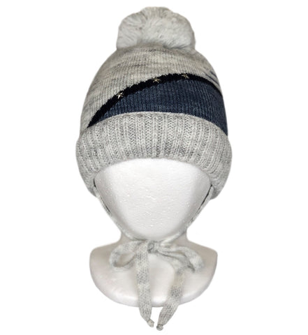 Baby boy knitted Hat with Pompon