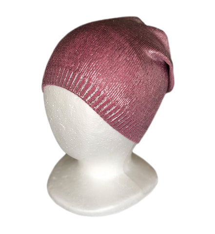 Sparkly Knit Hat Metallic Shine