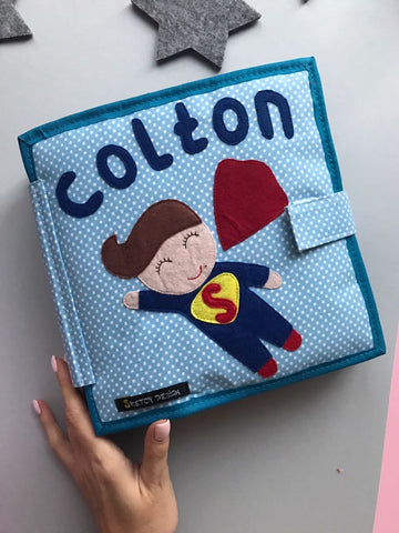 Personalized Pikabook for boys Superman