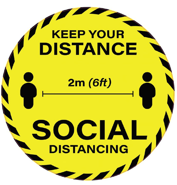 Keep your distance 2m 6ft