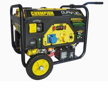 Champion 2800 Watt Dual Fuel Generator With Electric Start (1 x 240v) (1 x 110v)