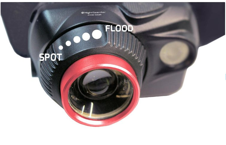 Zoom 580R Rechargeable / 3 x AAA Spot-to-Flood Head Torch Ref: 119-1-2