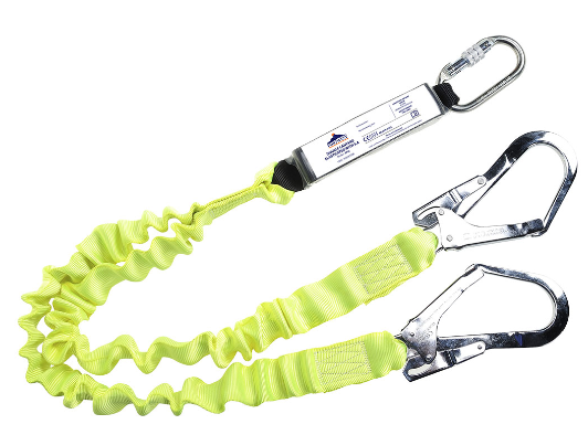Double Elasticated Lanyard With Shock Absorber Yellow