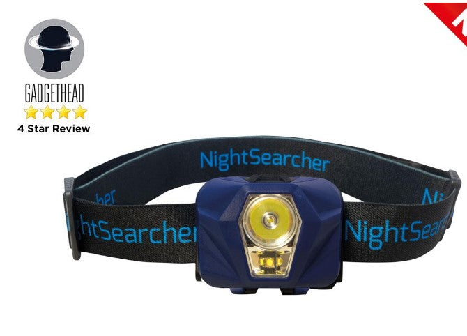 HeadStar Hybrid Rechargeable / 3 x AAA Dual Beam LED Head Torch Ref: 119-1-3