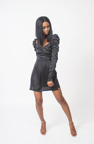 Olivia Runched Sleeve Dress