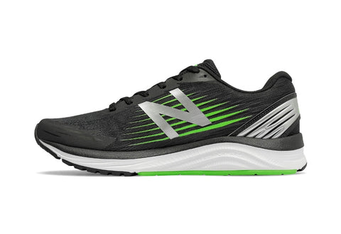 New Balance men's Synact running trainer black/green