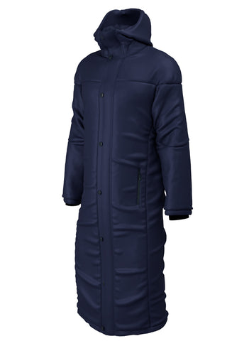 Thermal Sports Long Length Bench Jacket- Black or Navy