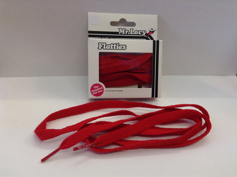 Mr Lacy Flatties shoe trainer Laces Red 130cm