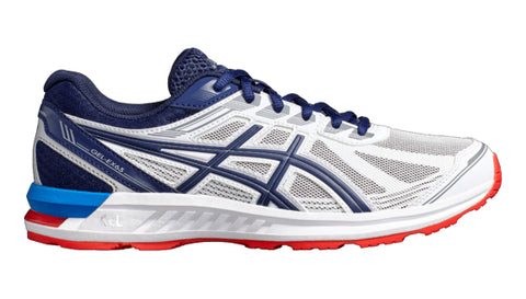 Asics Gel Sileo Mens cushioned running Trainers White Blue Red