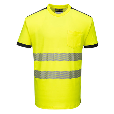 Portwest Workwear T181 PW3 Yellow Hi-Viz T-Shirt S/XXL