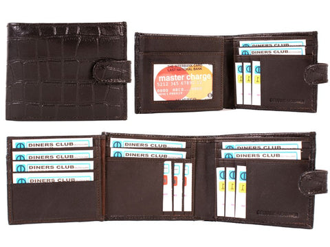 Crocodile skin Wallet with CC Sections and Tab RFID Protected 1152
