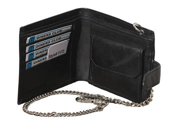 Men's Leather Wallet With Chain (1172) RFID Protected