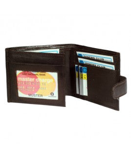 Sheep Nappa Wallet RFID Protected (1174) with Credit Card sections Black