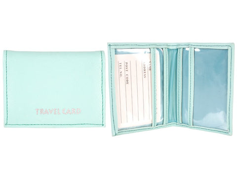 Grained PU Travel Card Holder 1500