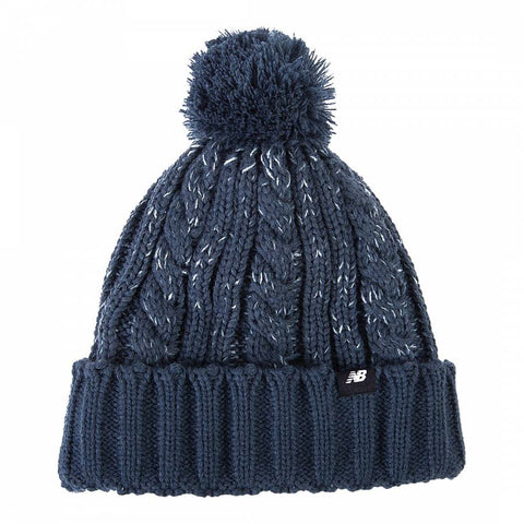 New Balance winter pom pom beanie hat blue