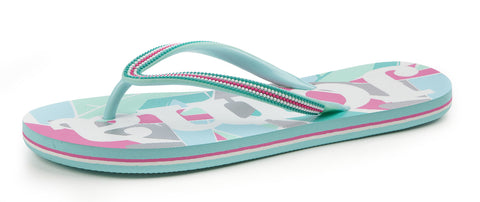 Joma S.Surf 605 Ladies Flip Flops - turquoise/white/pink