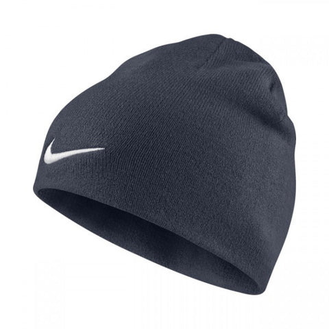 NIKE Navy blue OR Black beanie woolly hat ONE SIZE