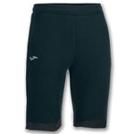 Joma Mens Comfort Sweat Bermuda Cotton Terry Salonica Black Shorts