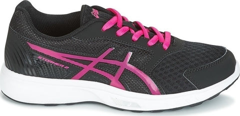 Asics Stormer 2 gs Junior girls running Trainers black / fuschia