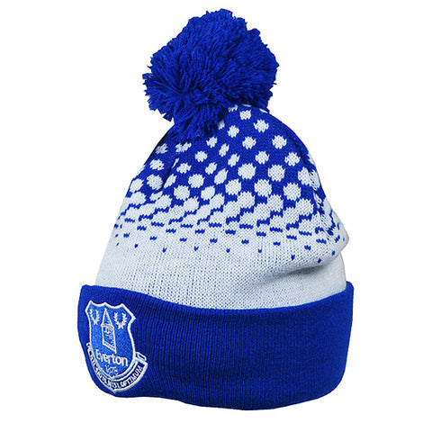 Everton FC fade knit bobble hat