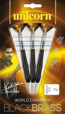 Unicorn Black Brass Jelle Klaasen Darts Set