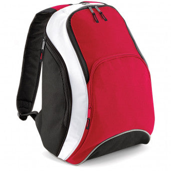BagBase Teamwear Backpack - Red/white/black 21ltr