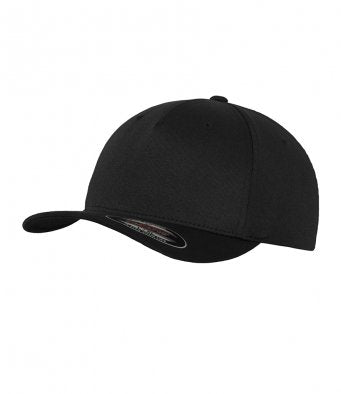 Flexfit 5 Panel Black Cap