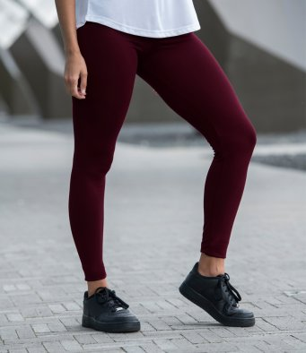 AWDis Cool Girlie Workout Leggings BURGUNDY