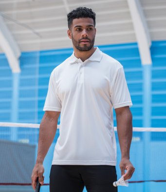 Awdis White Cool Smooth Polo Shirt For Tennis/Badminton/Bowls/Squash
