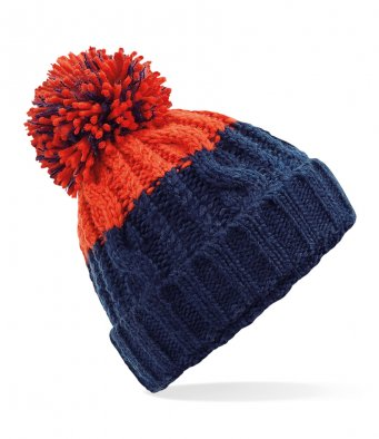 Beechfield Apres warm winter beanie bobble hat