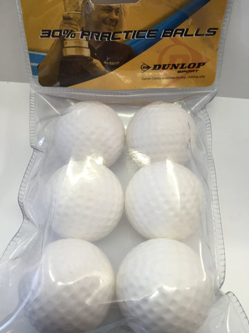 Practice golf balls 30% by Dunlop 6 pack