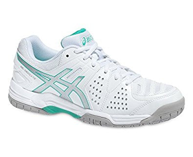 Asics Gel-Dedicate 4 OC - White/silver/green - Women's tennis