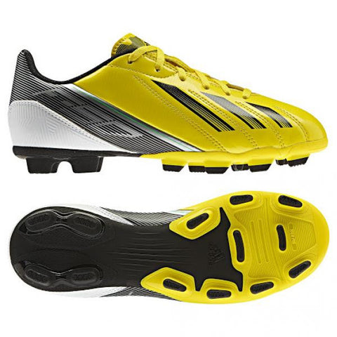 Adidas F5 TRX HG Junior football boots - moulded stud - yellow/white/black