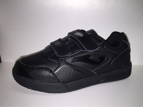 Joma Ottow black velcro junior school Trainers.