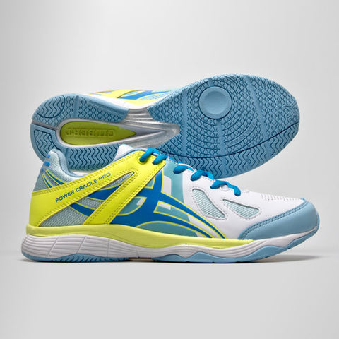 Gilbert Flare Netball Trainers white Sky Volt sizes 3uk-7uk