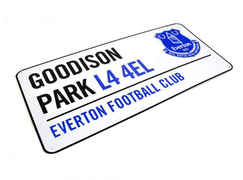 Everton Metal Street Sign Approx 40cm x 18cm