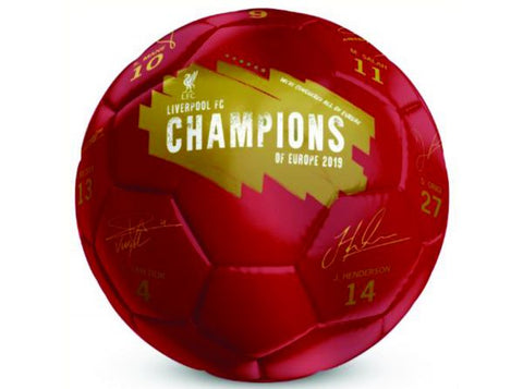Liverpool Champions of Europe Signature Football SIZE 5
