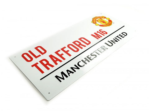 Manchester United 3d Metal Old Trafford Road Sign