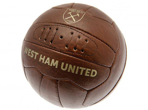 West Ham Retro Faux Leather Football