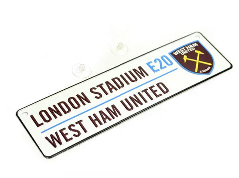 West Ham  3D Metal Street Sign
