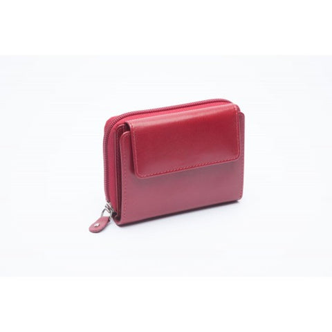 Charles Smith Leather Multi Compartment Purse Berry (603273)