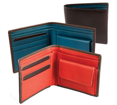 Soft cow nappa wallet black/red or black/blue (611016)