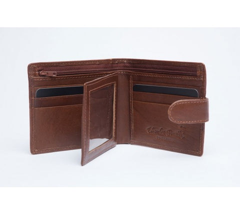 11.5cm x 10cm wallet notecase black or tan