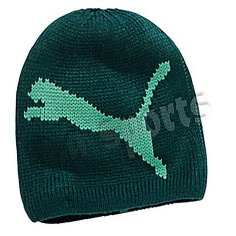 Puma Chunky Cat Beanie Woolly HAT green unisex one size